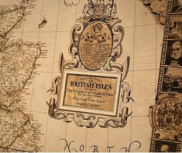 Карта Британских Островов