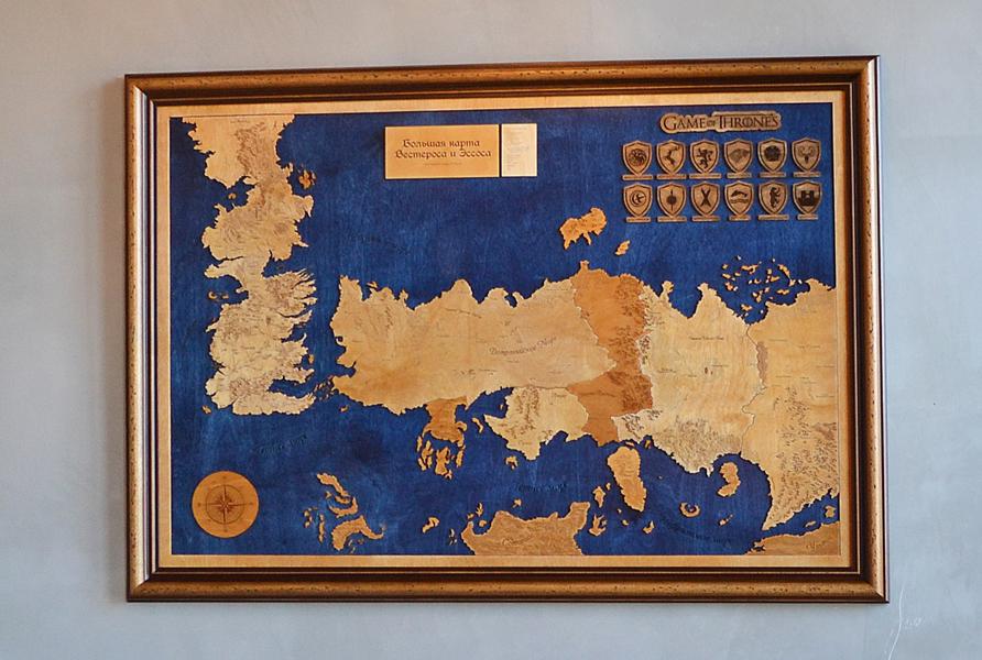 «Игра престолов» — большая карта Вестероса и Эссоса