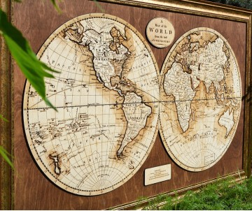 Карта мира 1768 года