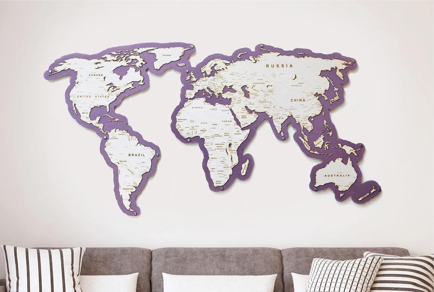 Мир без белых пятен на новой лиловой карте