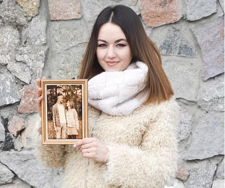 ПОРТРЕТ ВЫЖЖЕННЫЙ НА ДЕРЕВЕ ФОРМАТА А5